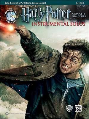 Harry Potter Instrumental Solos for Strings: Cello, Book & Online Audio/Software de Bill Galliford