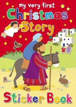My Very First Christmas Story Sticker Book de Lois Rock