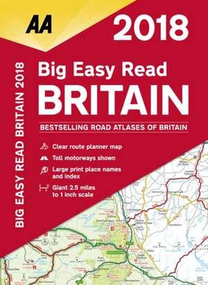 AA Big Easy Read Atlas Britain