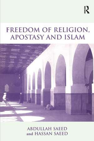 Freedom of Religion, Apostasy and Islam imagine