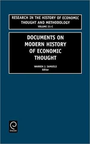 Documents Modern History Economic Thought de Warren Samuels