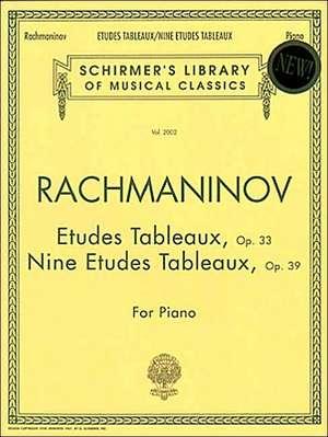 Etudes Tableaux, Op. 33 & 39: Schirmer Library of Classics Volume 2002 Piano Solo de Sergei Rachmaninoff