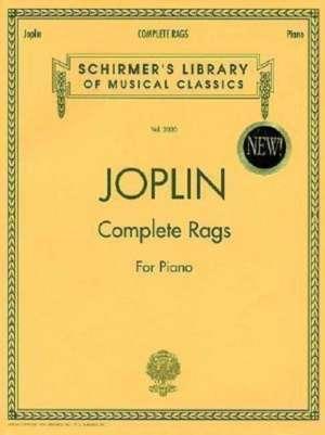 Joplin - Complete Rags for Piano: Schirmer Library of Classics Volume 2020 Piano Solo de Scott Joplin