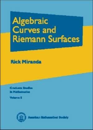 Algebraic Curves and Riemann Surfaces imagine