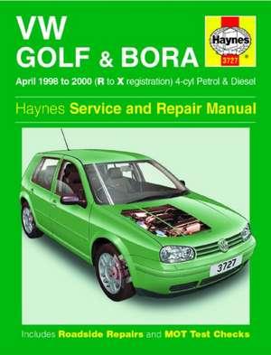 VW Golf & Bora Petrol & Diesel (April 98 - 00) Haynes Repair Manual de  Haynes Publishing