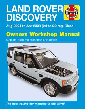 Land Rover Discovery Diesel (Aug 04 - Apr 09) Haynes Repair Manual de  Haynes Publishing