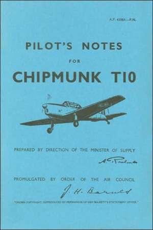 Pilot's Notes for Chipmunk T10 de Air Ministry
