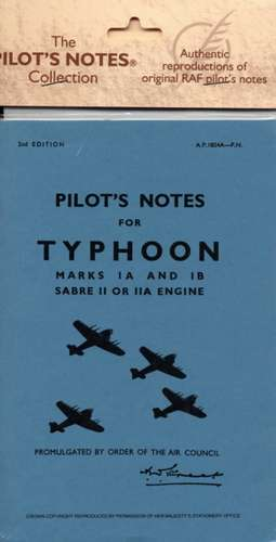 Hawker Typhoon Ia & Ib - Pilot's Notes:  Two Mercury XV or 25 Engines de Air Ministry