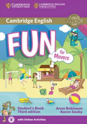 Fun for Movers Student's Book with Audio with Online Activities de Anne Robinson