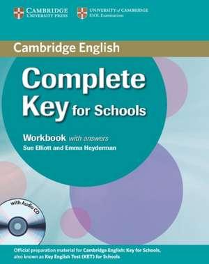 Complete Key for Schools Student's Pack with Answers (Student's Book with CD-ROM, Workbook with Audio CD) de David McKeegan