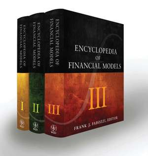 Encyclopedia of Financial Models: 3 Volume Set de Frank J. Fabozzi