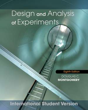 Design and Analysis of Experiments