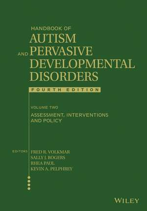 Handbook of Autism and Pervasive Developmental Disorders