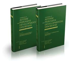 Handbook of Autism and Pervasive Developmental Disorders, 2 Volume Set