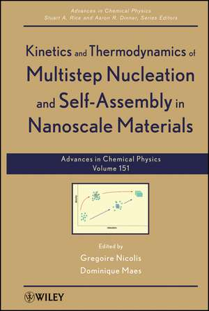 Kinetics and Thermodynamics of Multistep Nucleation and Self–Assembly in Nanoscale Materials de Gregoire Nicolis