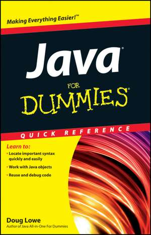 Java For Dummies Quick Reference de Doug Lowe