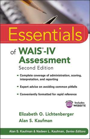 Essentials of WAIS–IV Assessment