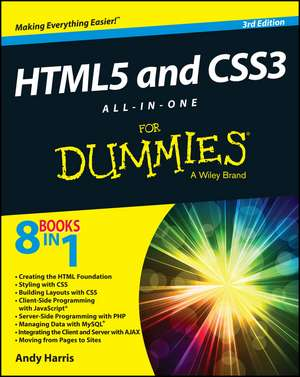 HTML5 and CSS3 All–in–One For Dummies de Andy Harris