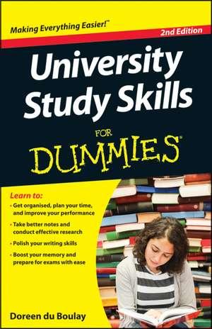 University Study Skills For Dummies de Doreen du Boulay