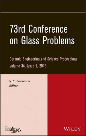 73rd Conference on Glass Problems de S. K. Sundaram