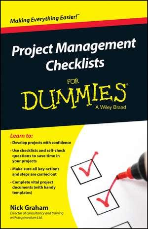 Project Management Checklists For Dummies de Nick Graham