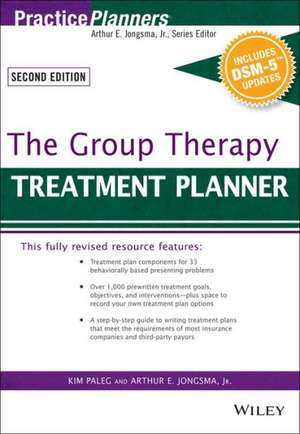 The Group Therapy Treatment Planner, with DSM–5 Updates