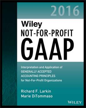 Wiley Not–for–Profit GAAP 2016