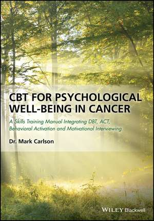 CBT for Psychological Well–Being in Cancer