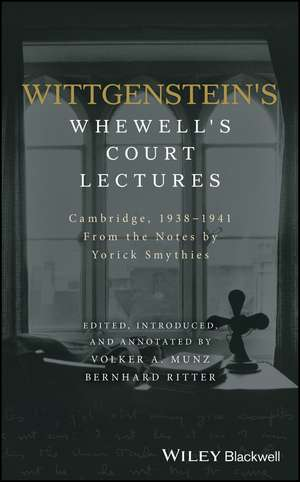 Wittgenstein′s Whewell′s Court Lectures