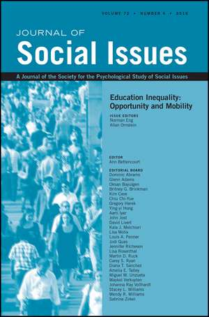 Education Inequality: Opportunity and Mobility de Norman Eng