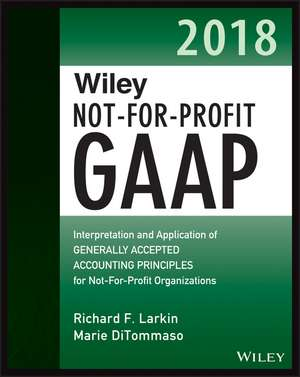 Wiley Not–for–Profit GAAP 2018