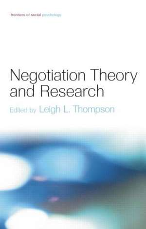 Negotiation Theory and Research imagine