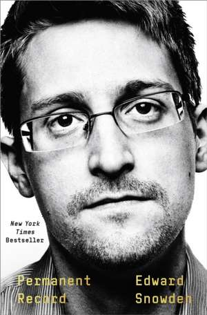 Permanent Record de Edward Snowden