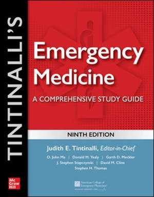 Tintinalli's Emergency Medicine: A Comprehensive Study Guide, 9th edition de Judith Tintinalli