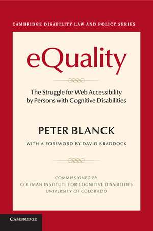 eQuality: The Struggle for Web Accessibility by Persons with Cognitive Disabilities de Peter Blanck