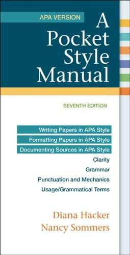 A Pocket Style Manual, APA Version imagine