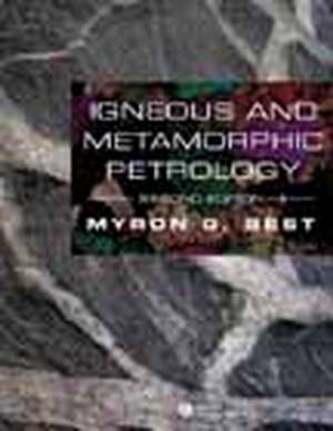 Igneous and Metamorphic Petrology
