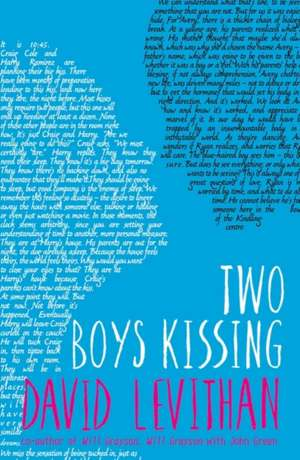 Two Boys Kissing de David Levithan
