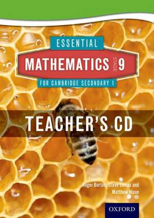 Essential Mathematics for Cambridge Lower Secondary Stage 9 Teacher CD-ROM de Roger Burton