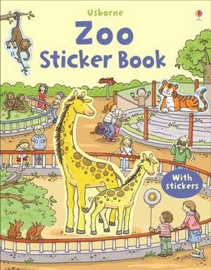 First Sticker Book Zoo imagine
