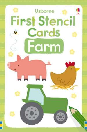 First Stencil Cards: Farm de Vicky Arrowsmith