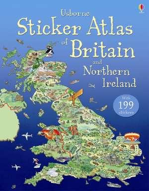 Usborne Sticker Atlas of Britain and Northern Ireland imagine