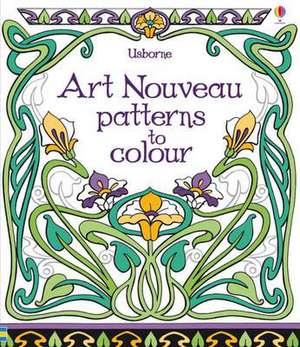 Art Nouveau Patterns to Colour imagine