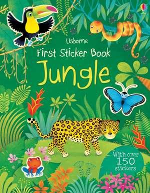 First Sticker Book Jungle imagine