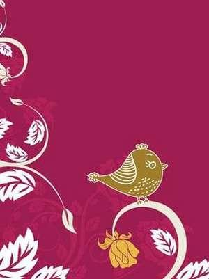 Birds Delicious Stationery Lock Up Dairy de Delicious Stationery