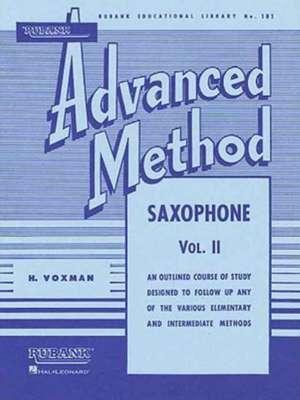 Rubank Advanced Method: Saxophone, Vol. II imagine
