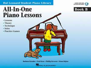 All-In-One Piano Lessons Book B: Book with Audio and MIDI Access Included [With CD (Audio)] de Fred Kern