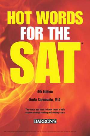 Hot Words for the SAT de Linda Carnevale