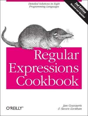 Regular Expressions Cookbook 2e de Jay Goyvaerts