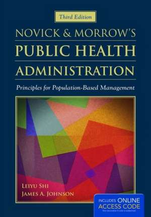 Novick & Morrow's Public Health Administration imagine
